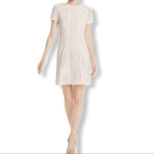 NWT ElizaJ Lace ShortSleeve Lace Cocktail Dress 12